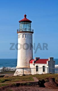 North Head Lighthouse Off Pazifischer Ozean - Wash