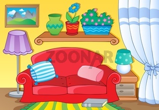 Room with furniture theme image 1 - picture illustration.