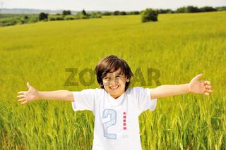 happy kid in nature
