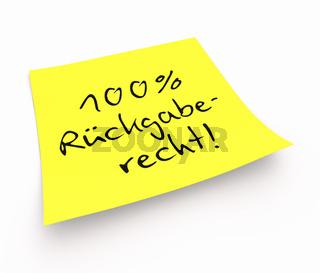 Notizzettel - 100% Rückgaberecht!