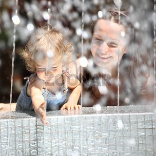 Fountain splashes