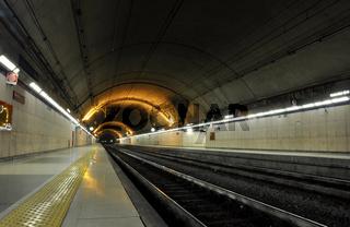 San Remo underground train station
