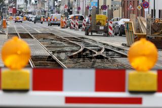 Baustellenabsicherung Strassenbahn
