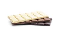 White and dark chocolate bars