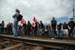 Protest gegen den Naziaufmarsch in Frankfurt 2007