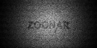 Halftone gradient made of letters and digits