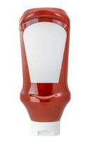 Isolated Squeezy Tomato Ketchup Bottle