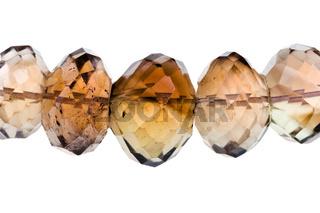 string of smoky quartz beads