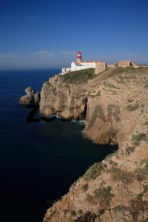 Leuchtturm am Cabo de Sao Vicente, Algarve, Portug