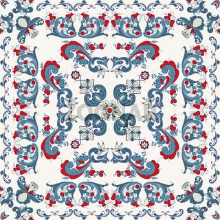 Rosemaling vector pattern 26