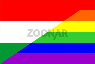 gay flag hungary