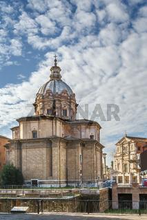 Church Santi Luca e Martina, Rome