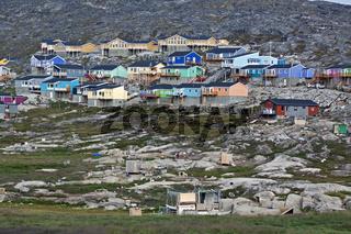 Wohnsiedlung in Ilulissat, Grönland