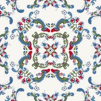 Rosemaling vector pattern 33
