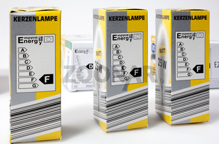 Packagings with energy labels