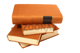 Isolated photo antique Goethe's books stacked up. clipping path included. Изолированные фото четырёх антикварных книг Гете