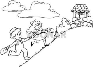 Children running - Vector