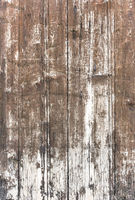 Old wooden plankswith peeling paint