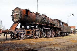 Zug, Lokomotive, rostig, Abstellgleis, alt