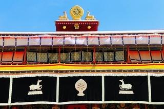 Dharmachakra mit den Gazellen  Kloster Drepung Tibet China