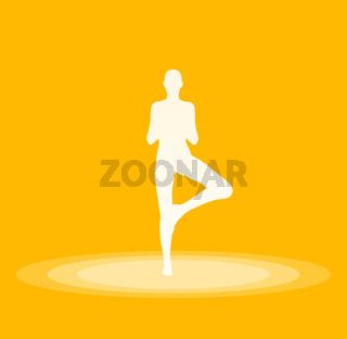 Yoga Pose Symbol - Gelb 31