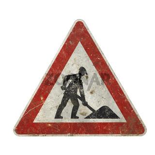 nostalgic construction sign