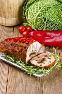 fleisch rouladen mit paprika
