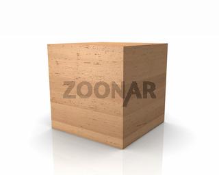 Holzwürfel mit graden Kanten - Erle