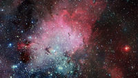 Astronomical scientific background, nebula and stars in deep space