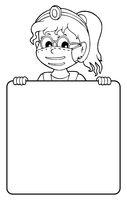 Doctor holding blank panel monochrome image 2