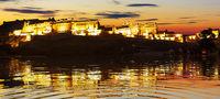 Amer Fort night panorama, Jaipur, Rajasthan, India