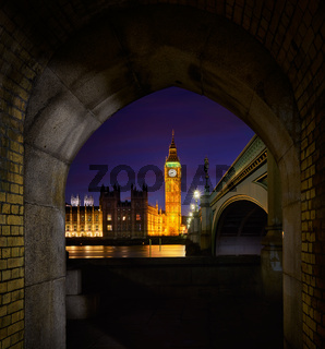 Big Ben Palace of Westminster at night in London, England