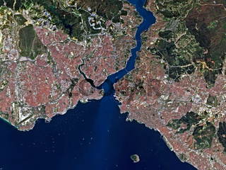 Satellite image of Istanbul