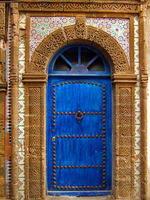 Traditional ornate magnificent Moroccan door