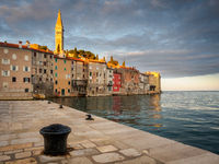 Sunrise at Rovinj a small town in Croatia