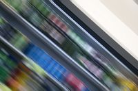 Abstract blur of a grocery store