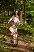 girl cyclist biking