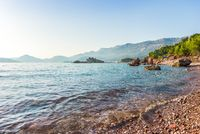 Seashore in Sveti Stefan