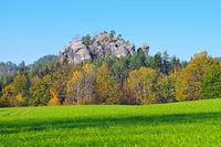 der Berg Gamrig in der Sächsischen Schweiz - mountain Gamrig in Saxon Switzerland, Germany