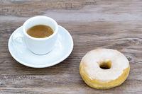 Espresso and donut