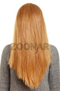 Blonde Frau mit langen Haaren