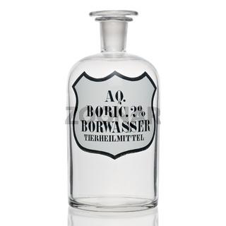 Apothekenflasche: Borwasser