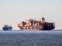Containerschiffe als Abgänge