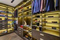 Large luxury men's wardrobe