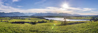 Panorama Landschaft mit Riegsee bei Murnau