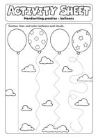 Activity sheet handwriting practise topic 1