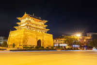 longxi weiyuan tower at night