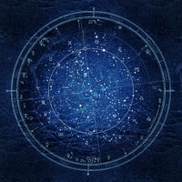 Astrological horoscope on January 1, 2020. Detailed Night Sky Chart, Ultraviolet Blueprint (Remake).