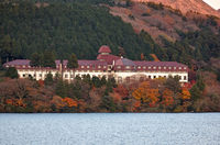 Hotel de Yama by the Lakeside of  Ashi. Hakone, Kanagawa. Honshu. Japan