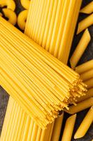 Raw italian spaghetti pasta.